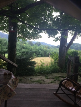 View from tent porch